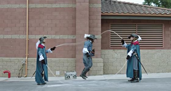 Три мушкетера и скакалка