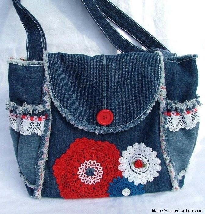 Модные сумки из старых джинсов (19) (672x700, 331Kb)