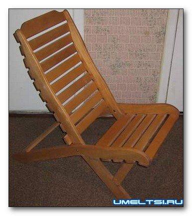 Кресло раскладное из дерева
