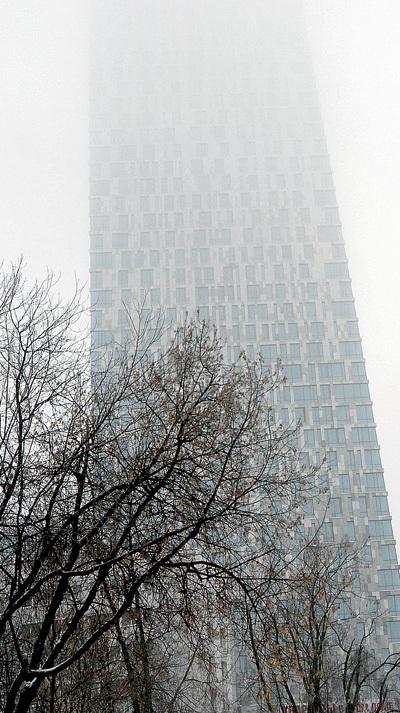 В облачную или туманную погоду...