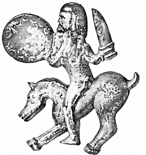 Всадник-воин. Славянская фигурка. Велестино, VI–VII века. /Фото:litmir.me