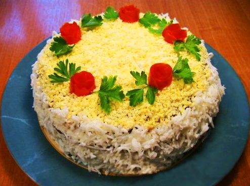 Фото и рецепт-печёночный торт