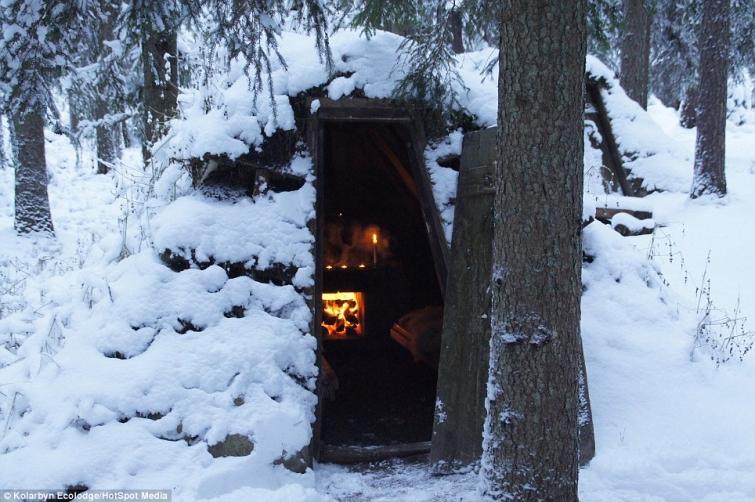 Отель Kolarbyn Eco-Lodge. Возможность пожить в маленьких уютных домиках посреди шведского леса