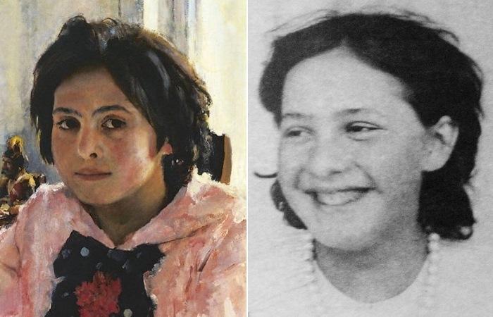 В. Серов, *Девочка с персиками*, фрагмент. Вера Мамонтова, конец 1880-х гг.