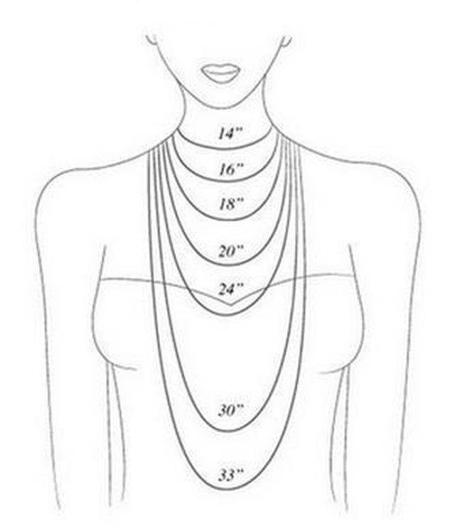 8. Как выглядят бусы и цепочки определенной длины девушки, мода, одежда, стиль, шпаргалка