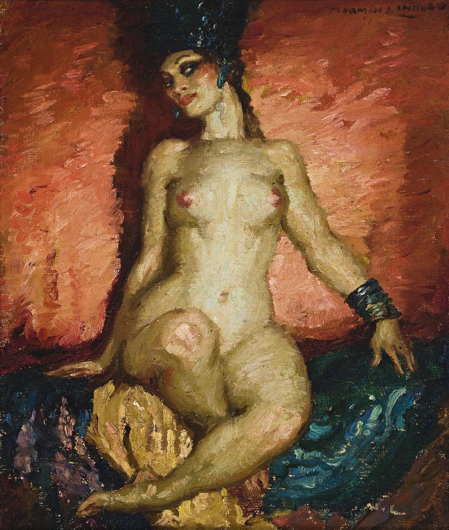 Прелестные нимфы, козлоногие обольстители и демоны в картинах Нормана Линдсея 27