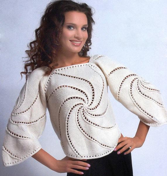 Необычный пуловер Вихрь