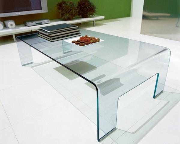 Полностью стеклянный столик фото