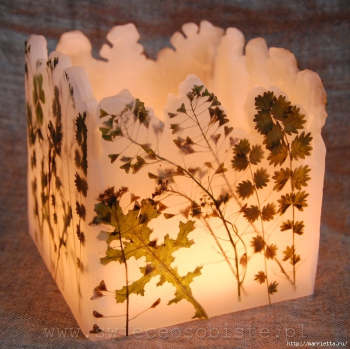 Невероятной красоты свечи ручной работы. МК