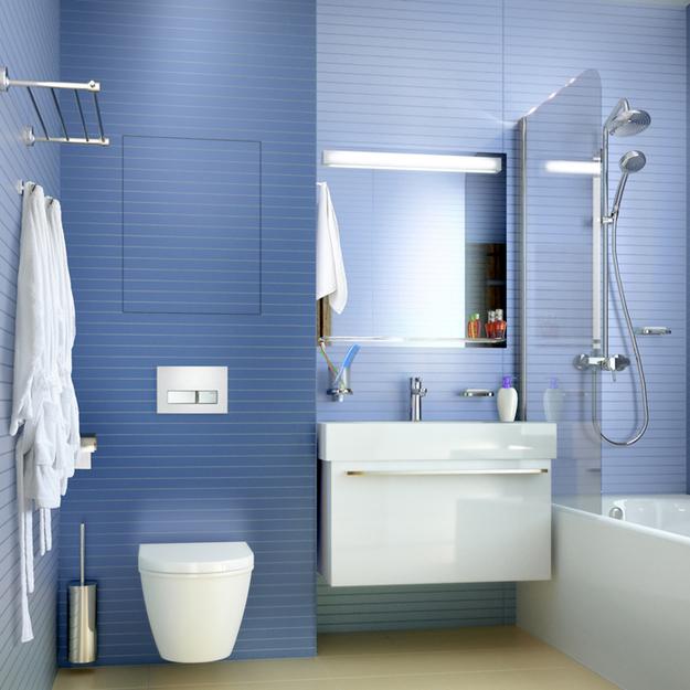Инсталляция в ванной дизайн 16