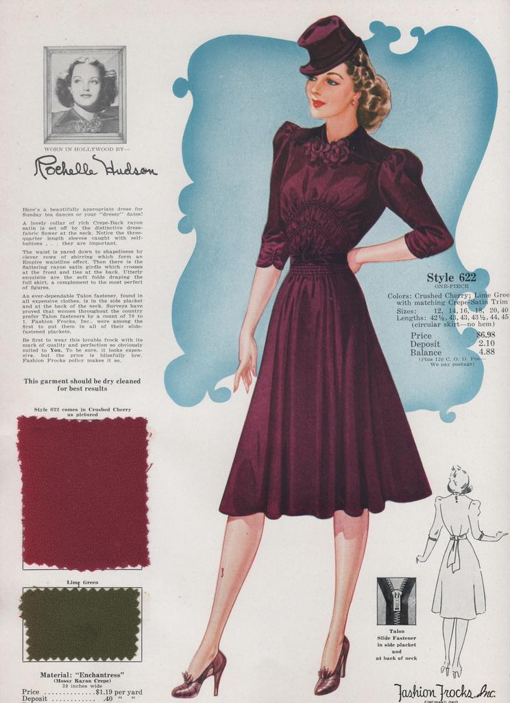 Популярные фасоны платьев 1940-х годов