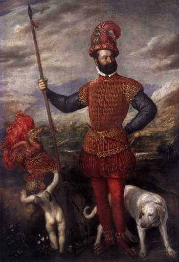 Тициан. Портрет мужчины в военном снаряжении