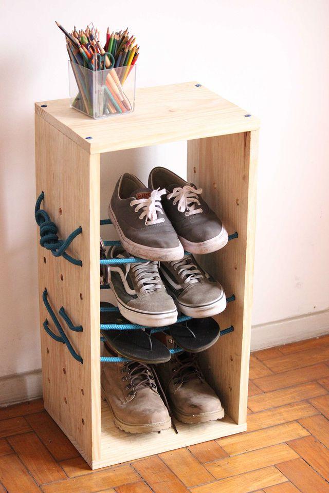 Деревянная этажерка для обуви своими руками 45