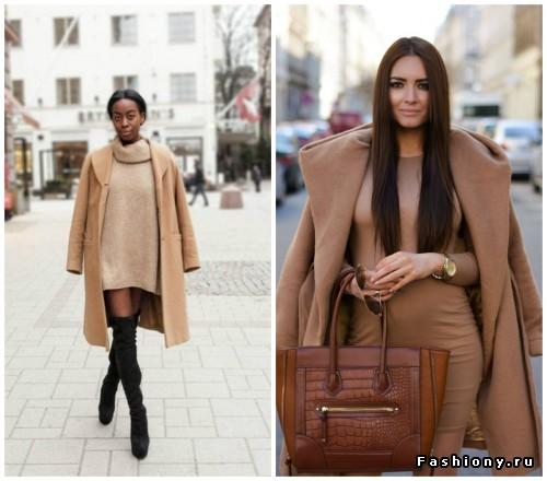 Тренд осенне-зимнего сезона -- вязаное  платье