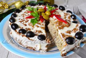 Печеночный пирог с рисом