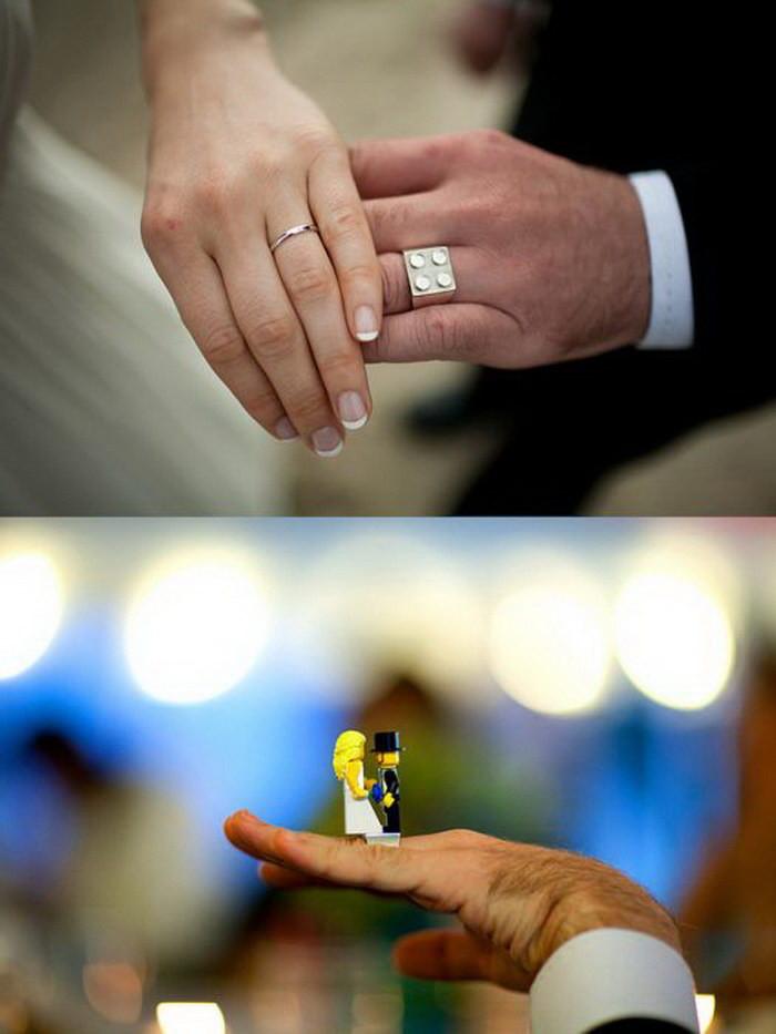 Кольцо в виде платформы Lego диза, кольцо, креатив
