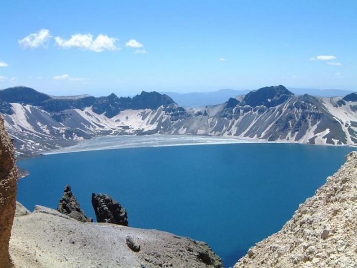 Небесное озеро кратер, озеро, природа