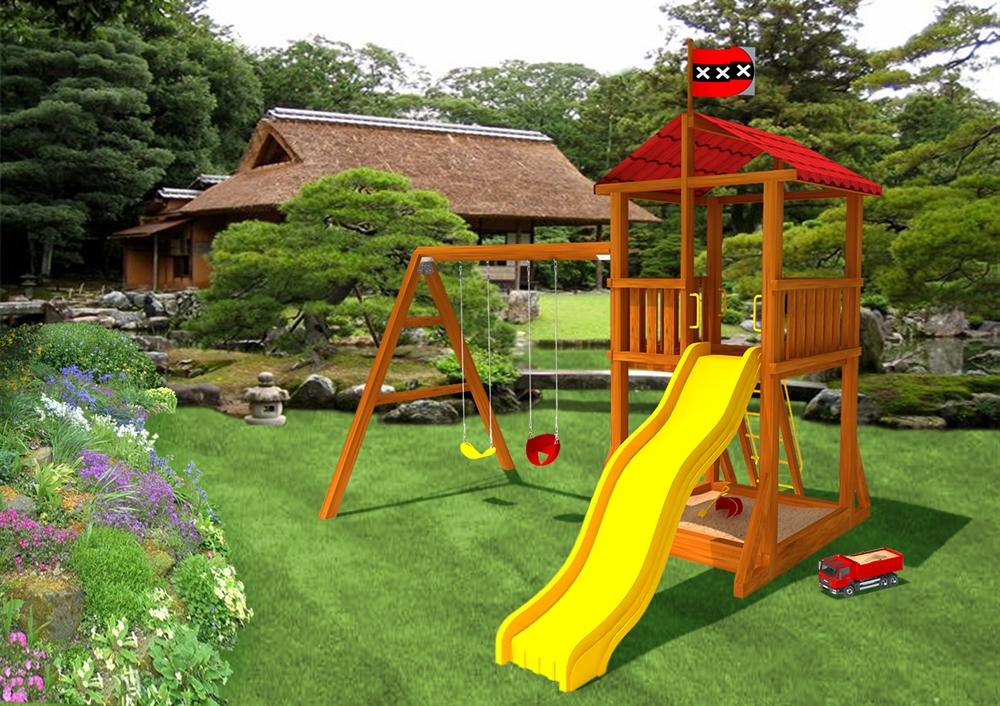 Детская площадка для дачи своими руками.