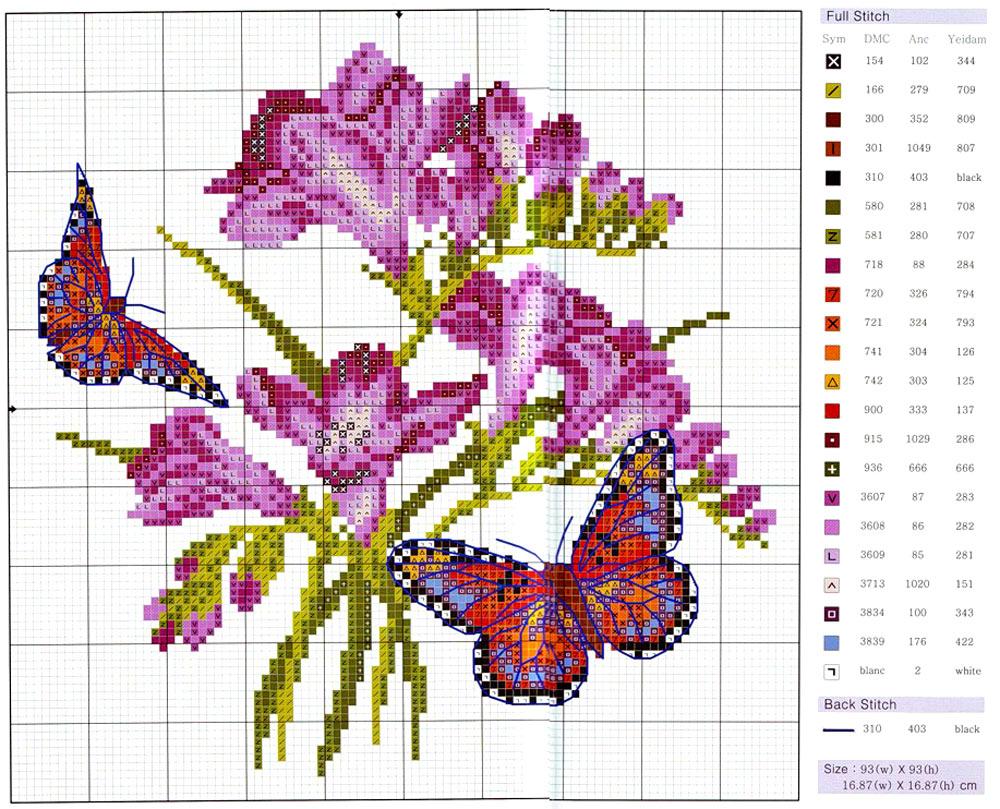 Самые красивые вышивки цветов