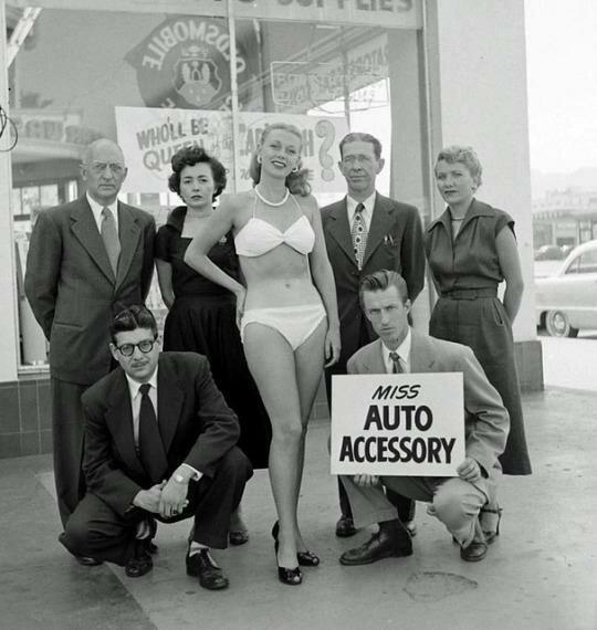 Мисс Автозапчасть. США. 60-е. интересно, история, фото