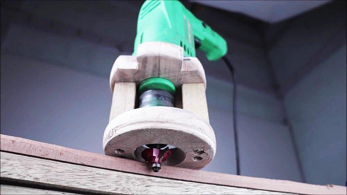 Насадка на дрель для фрезеровки деревянных изделий