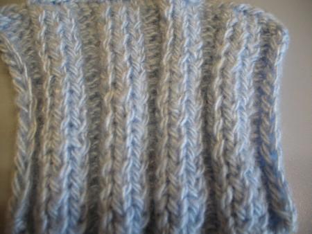 Резинка 3х3 (уроки вязания спицами)