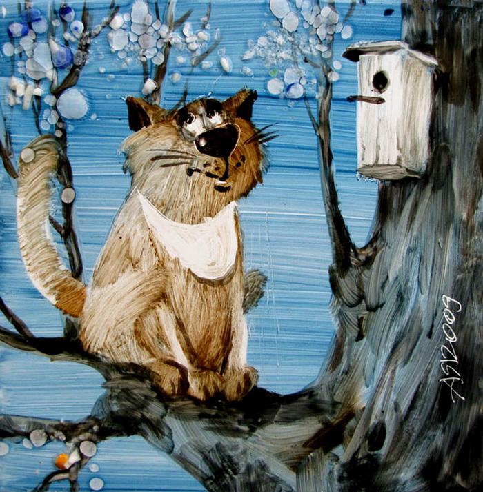 Кошки в искусстве - Страница 8 - Собака - ДРУГ человека. . Не его раб.