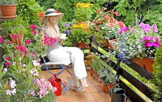 балконы в цветах, цветы на балконе, красивые...