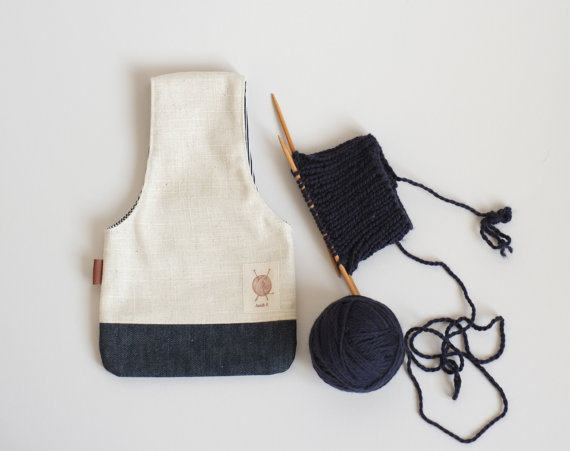 Вязание сумка, ремешок, чтобы вязать, пряжа мешок, организатор пряжа, вязать на ходу