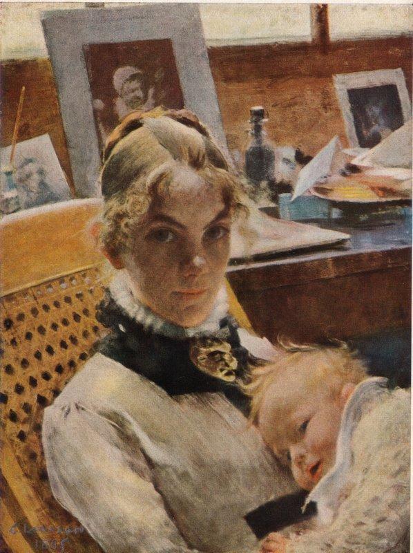 В обьятьях счастливой семьи... Шведский художник Carl Olof Larsson (1853 - 1919)