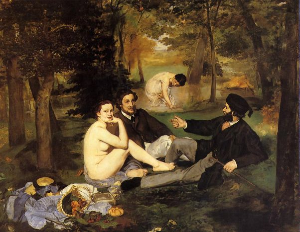 Завтрак на траве. 1863.