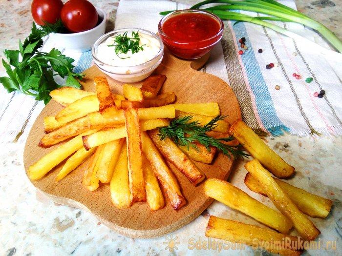 Как пожарить картошку с хрус…