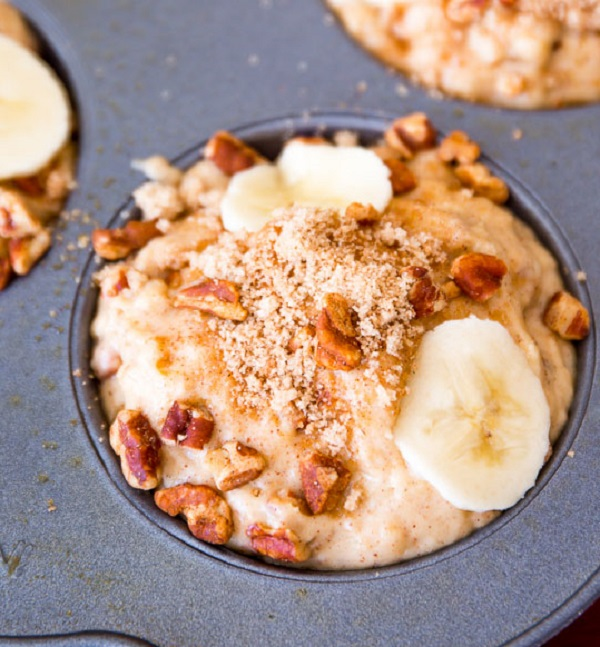 маффины с бананами и орехами