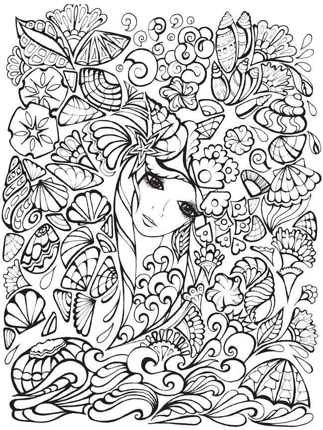Creative Haven Fanciful Faces Coloring Book Welcome to Dover Publications: