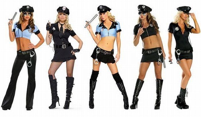 сексуальные девушки в форме милиции