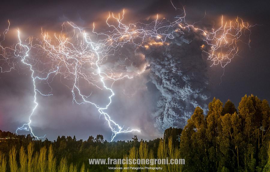 Извержение Кордон Кауле вулкан, фото
