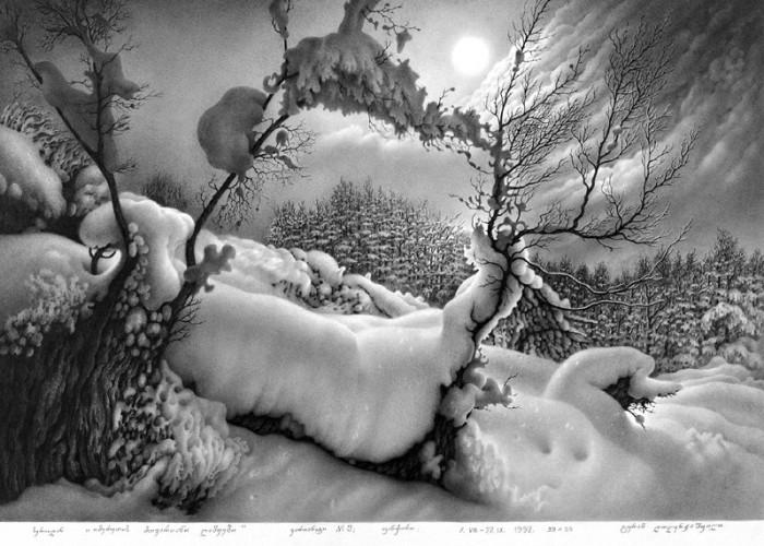 рисунки карандашом Гурам Доленджашвили - 04
