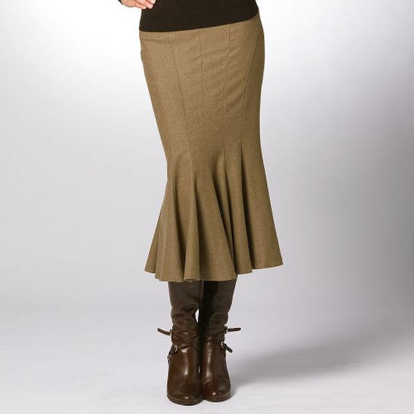 модели юбок годе для полных фото