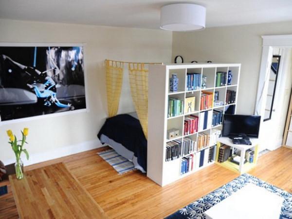 Существует несколько способов зонирования пространства:  дизайн, идея, квартира