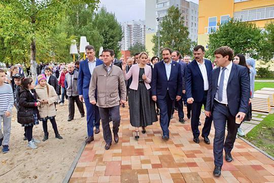 Обновленный бульвар на улице Фучика открыли в Казани