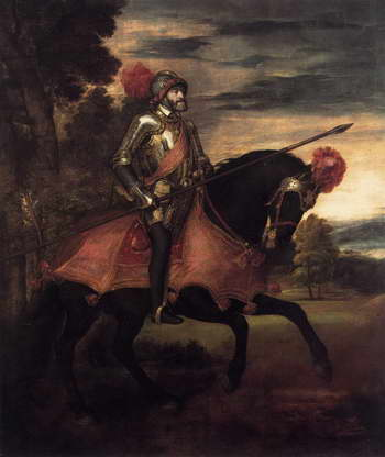 Тициан. Император Карл V на поле Мюльбергской битвы