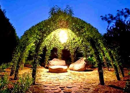 Беседка из ивы в саду - МК и идеи