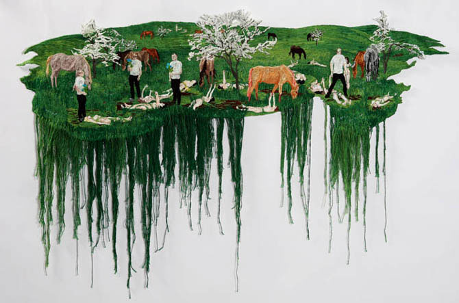 Вышитые картины, создающие иллюзию живописи
