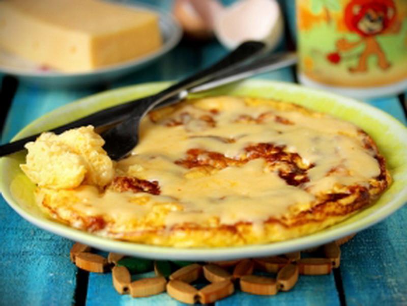 1. Омлет с сыром еда, завтрак, омлет
