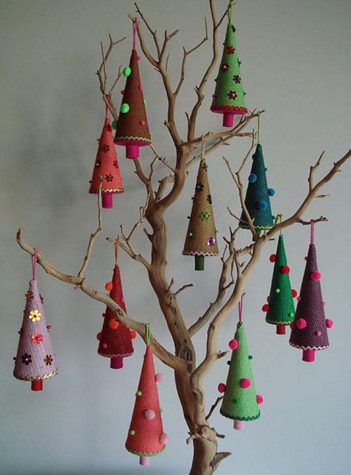 Рождественские деревья своими руками