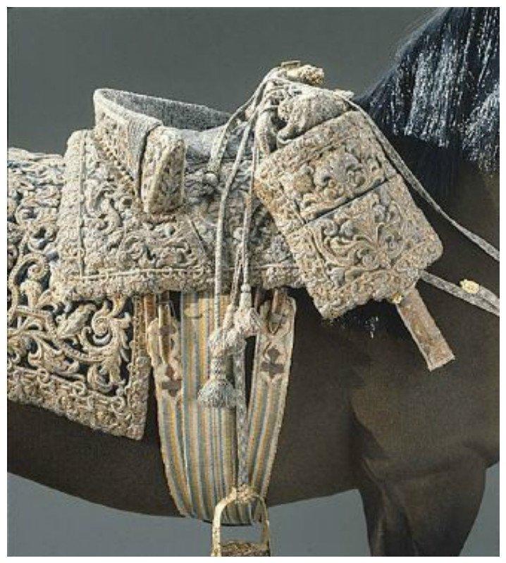 Седло Людовика XIV из Франции интересное, лошади. факты, седла