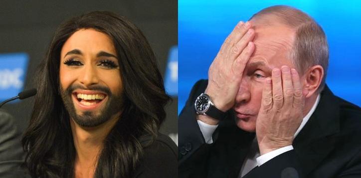 Кончита Вурст попыталась высмеять Владимира Путина (ВИДЕО)
