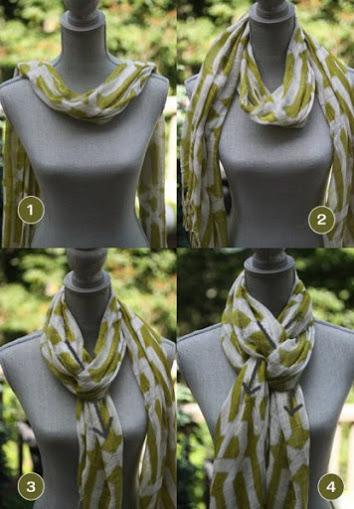 Завязываем шарф по новому этой осенью!