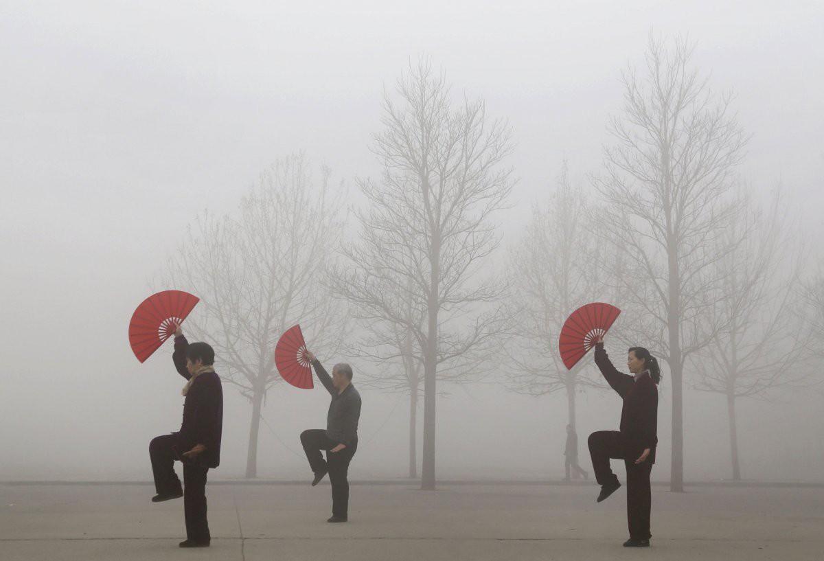 18 фотографий о степени загрязнённости воздуха в Китае