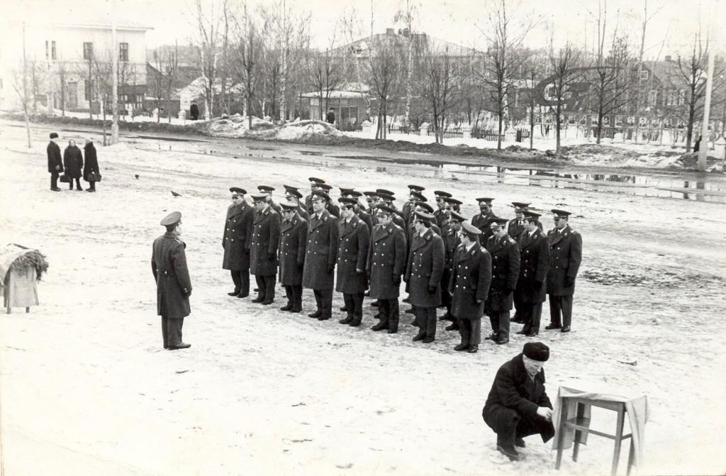 Принятие присяги на городской площади